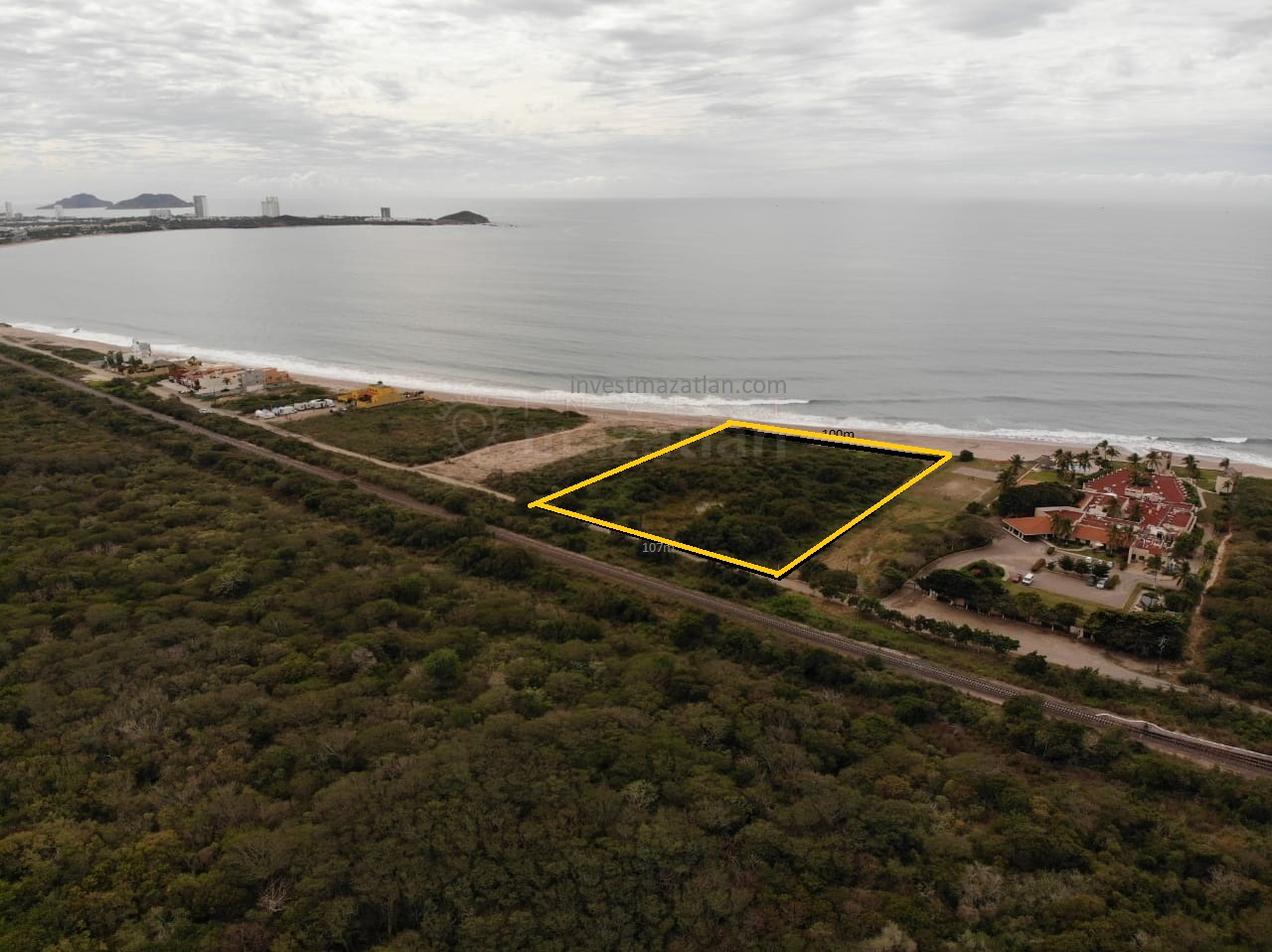 Great developer lot in Nuevo Mazatlan with a 328ft beach frontage – PRICE REDUCTION!