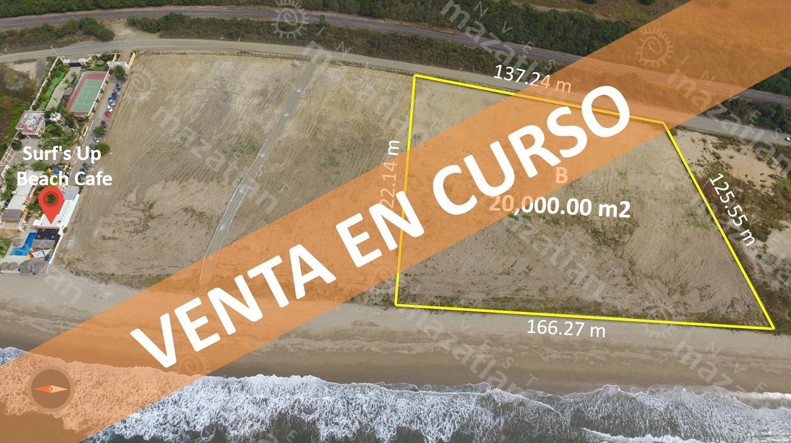 Terreno con 166m de frente de playa – OPORTUNIDAD PARA DESARROLLADORES!